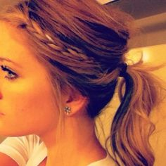 braid + pony= too pretty