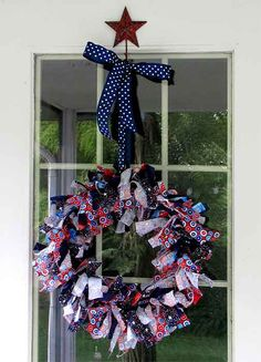 4th of july decorations to make 4th of July Decorations: Make Rag Wreaths