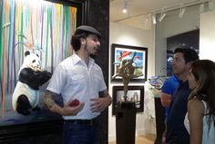 Artist Michael Summers shares his original works of art with the collectors at Exclusive Collections Gallery in Laguna Beach