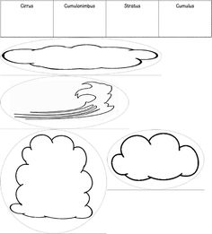 Cloud Type Worksheets for Kids