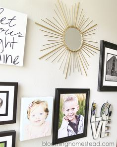 Create your own DIY sunburst mirror to make a statement on the gallery wall. | home decor | easy DIY project