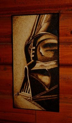 STAR WARS art - Darth Vader woodburned home decoration