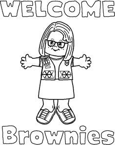 girl scout coloring pages | Welcome Signs for Daisies and Brownies |