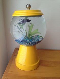 Clay pot gum ball fish bowl
