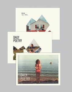 Daily Poetry on the Behance Network graphic design, daili poetri, behance, layout, poster, photography design, mask, poetry, postcard
