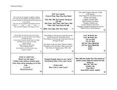 Song book ideas