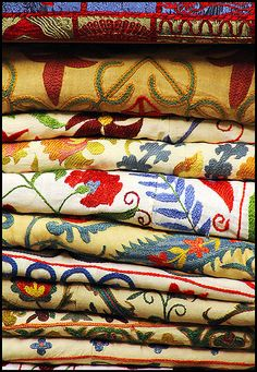 hand embroid, tablecloth, istanbul bazaar, colors, textiles, crewel embroidery, beauti, blog, fabric
