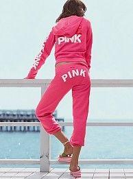 pink PINK sweats