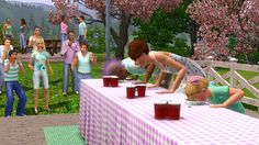 games, season event, costumes, autumn, eat contest, sims3 season, christmas trees, the sims, halloween