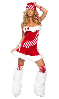 Candy Cane Christmas Costume $