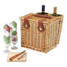Vino Wine & Cheese Basket Set
