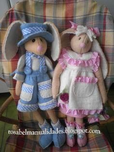 Rosabel manualidades: Conejitos con fieltro