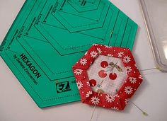 Cool ruler and tutorial on Hexies patchwork, kill time, quilting tools, hexagon quilt, quilt block, quilt hexi, paper piec, pamkittymorn, hexagons