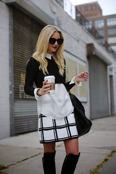 cute black and white outfit