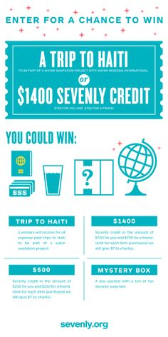 We're giving away an ALL-EXPENSES-PAID trip to Haiti and $1,400 store credit to Sevenly! Click on the image to get details and enter for YOUR chance to win! http://www.sevenly.org/wmi-giveaway/?cid=WMIGiveaway