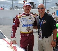 Driver Brian Vickers and Defensive Coordinator Charles Kelly