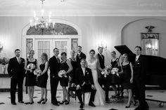 Black & White photo taken within Lovett's Lobby
