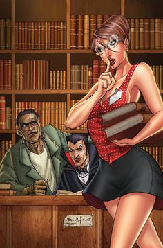 Grimm Fairy Tales Presents The Library #4 Cover B #TheLibrary #GFT #Zenescope