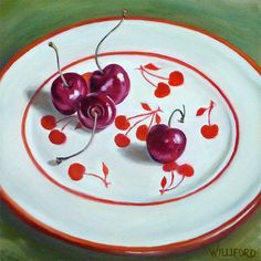 cherri art, cherri jubile, retro cherri, fine art, cherries, kathleen williford, cherri thing