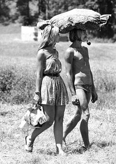 Hippie couple 1967.......love it!  changing the world for ever