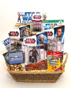 Star Wars Kids Gift Basket- Great gift for a young star wars fan! kid gifts, kid basket, star wars, young star, gift idea, gift basket