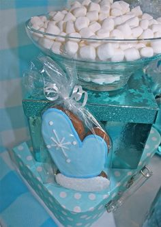 Sweet treats at a Winter Wonderland party!  See more party ideas at CatchMyParty.com!  #partyideas #winter