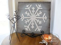 Pallet Art snowflake