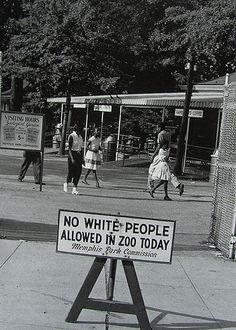 Occasionally, a few days were designated to allow black people to attend the zoo with the restriction placed on whites. The things our history books don't tell us...