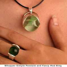 marble pendant and ring