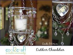In this video, Linda Peterson shows how to make a small votive candle chandelier from chicken wire, wire, crystal drops and chain. Embellished with beads, this elegant mini chandelier looks beautiful displayed inside or out. Featured on Cool2Craft TV.