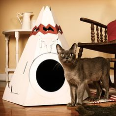 Teepee Cat Playhouse, $28, now featured on Fab.