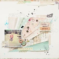 #papercraft #scrapbook #layout. Prima layout by Anna-Maria Wolniak using Rondelle and Zephyr