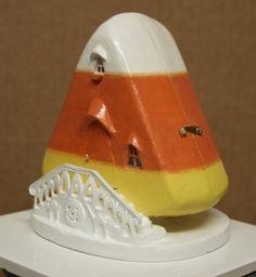 how to: 1/48th scale candy corn house