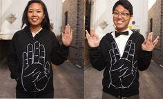 jacket, hand, live long, fans, geek fashion