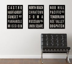 SAN FRANCISCO Subway Sign Prints.