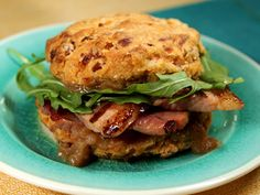 Ham and Apple Butter Biscuit Sandwiches from Kimberlys Simply Southern
