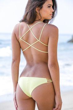 Frankie's Bikinis 2014 - Kaia Bikini Bottom Yellow - $79