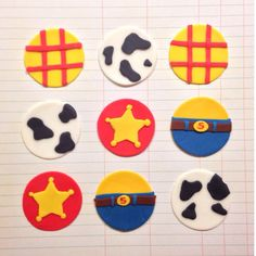 Woody Toy Story Fondant Cupcake Toppers  One Dozen by CakeCandy, $23.00