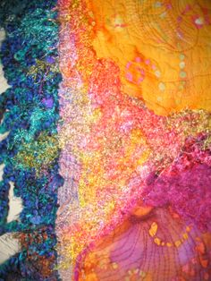 art quilt fiber textile color