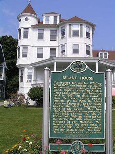 Historical Marker at Island House Hotel, Mackinac Island, MI