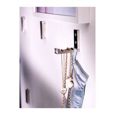 """Bjarnum"" set of 3 silver folding wall hooks from Ikea ($10)."