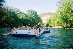 What's the ONE thing you must do in Texas, according to the Huffington Post? Tube the Guadalupe River! Nothin' says Texas like drifting down the river on a toasty summer day with all your best friends and a massive floating cooler of Coors.