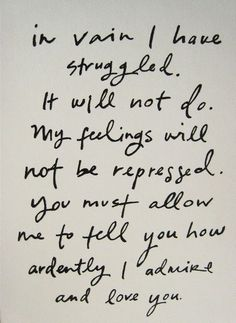 Pride and Prejudice love