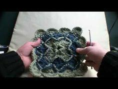 Crochet Catherine Wheel Square - 1