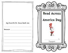 Dr. Suess Passport free printables