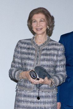 Queen Sofia looked gorgeous arriving at the Awards.