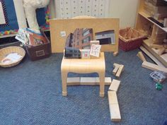 Photos from neighborhood walk incorporated into block structures and play :-)