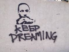 Graffiti spotted in an alley on Martin Luther King Jr's Birthday...