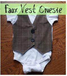 faux vest onesie