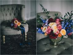 vibrant hand tied bouquet and centerpiece via Chelo Keys